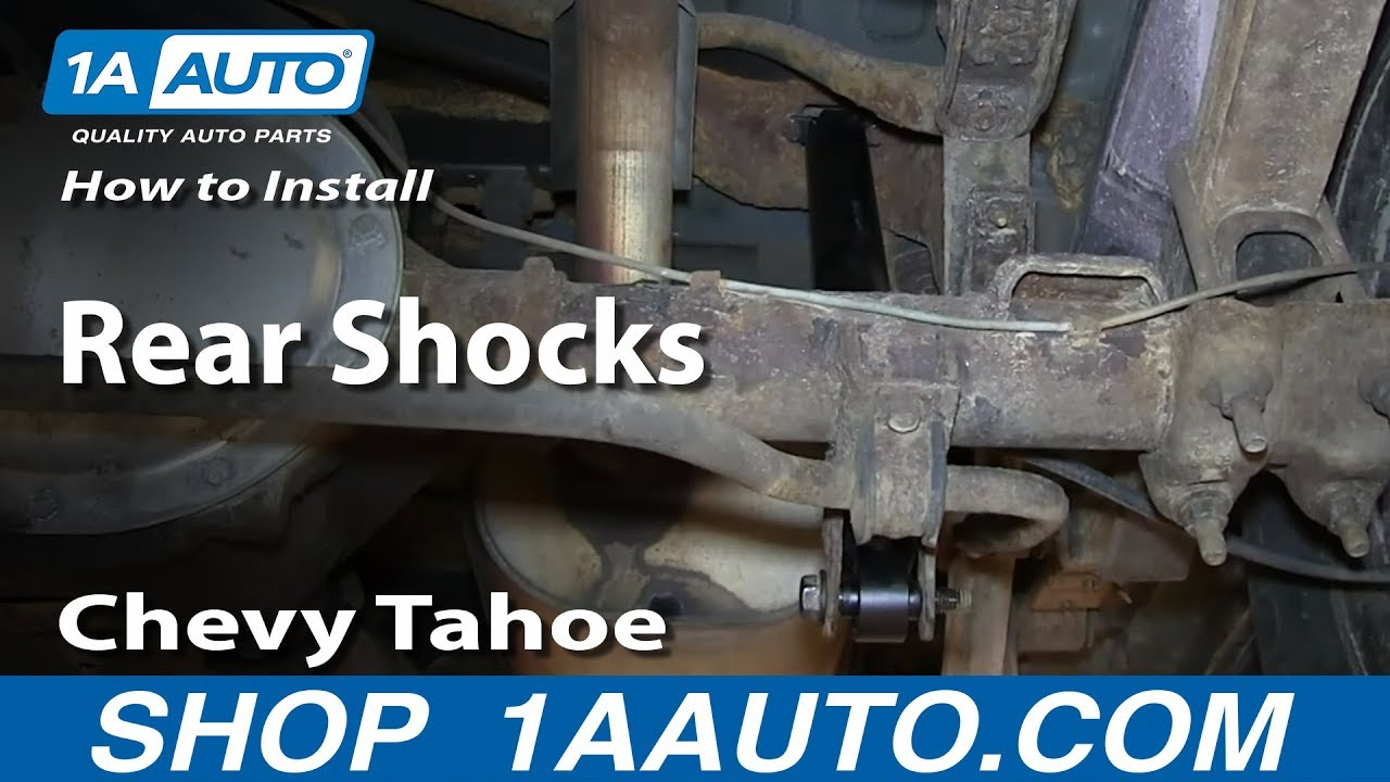 How To Install Replace Rear Shocks 1995 99 Chevy Tahoe Gmc