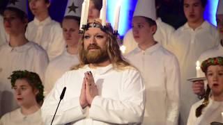 Luciakonsert på Nordiska museet i Stockholm