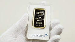 Credit Suisse 1 oz .9999 Gold Bar Unboxing!