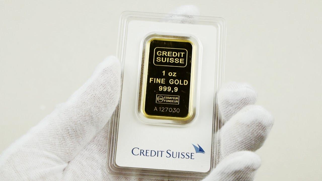 Credit Suisse 1 Oz 9999 Gold Bar Unboxing Youtube