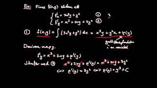 """Differentialkalkyl (flerdim) del 3 - partiell derivata, """"primitiv funktion"""""""