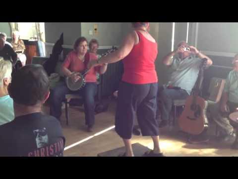 Gen dances to Old Joe Clark,Sedgefield Festival 2012