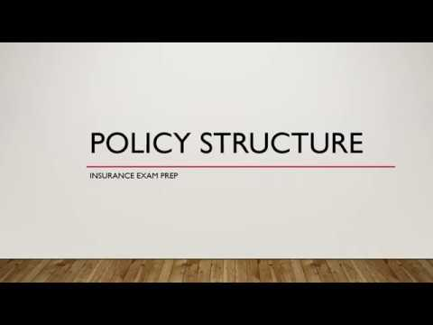 Insurance Policy Structure