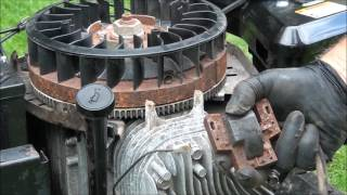 Coil/magneto Problems? Briggs and Stratton 19.5 HP Twin Cylinder. Replacing the Coil