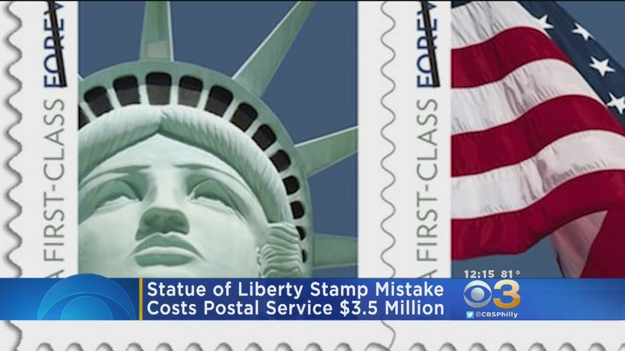 Statue of Liberty stamp mistake to cost US Postal Service $3.5 million