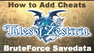 [PS3] Tales of Zestiria *Applying Cheats using BruteForce Savedata*