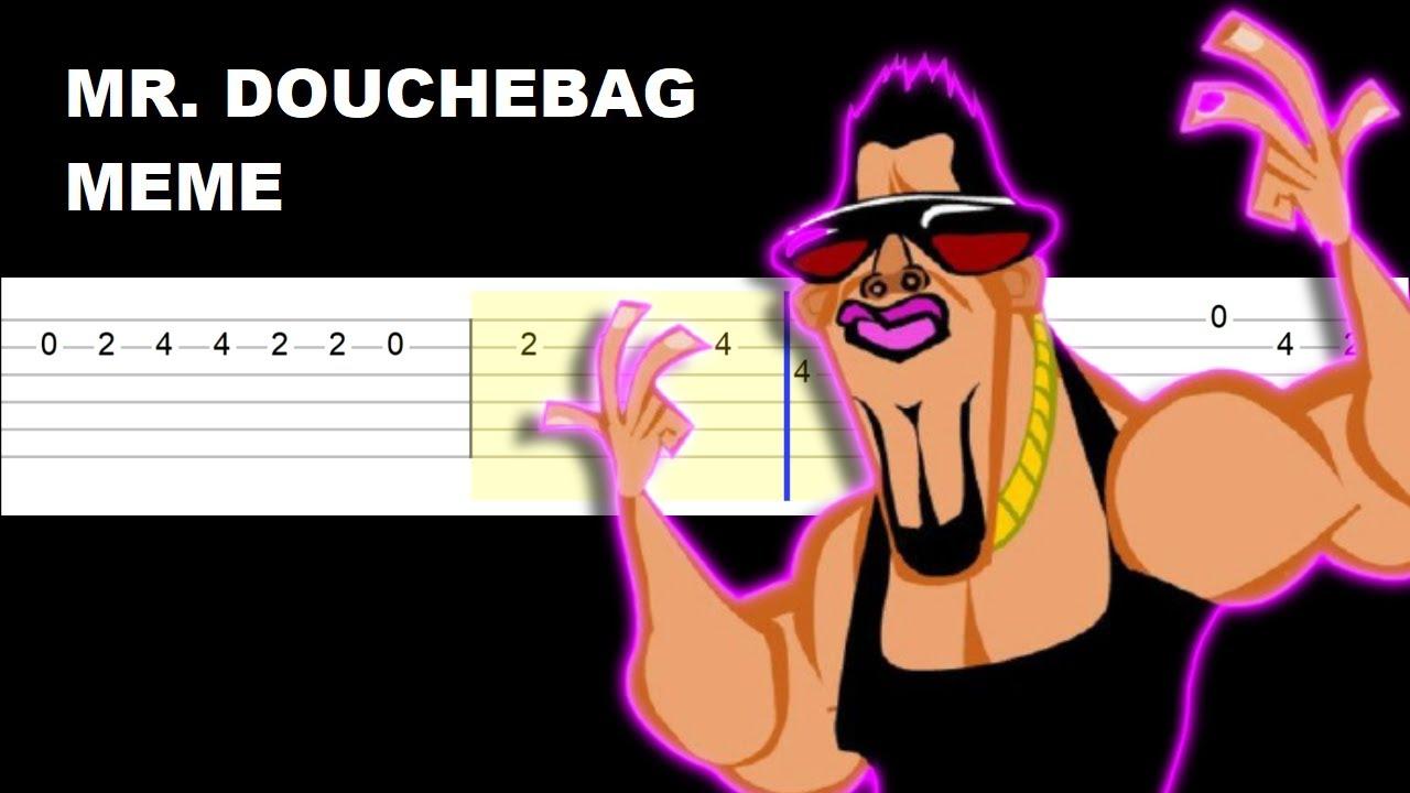 Mr. Dou*heBag Meme (Easy Guitar Tabs Tutorial)