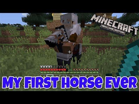 My First Horse Ever!!! - Minecraft Xbox One Edition (Gameplay, Walkthrough)