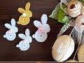 Crochet rabbit applique | Örgü süs tavşan yapılışı | knitting