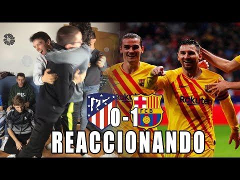 REACCION ATLETICO DE MADRID 0-1 BARCELONA | PARRAS