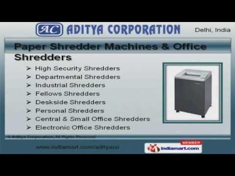 Office Equipment By Aditya Corporation, Delhi