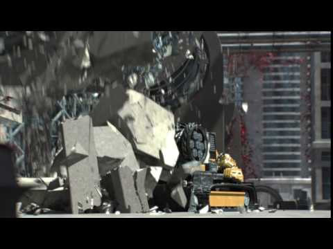 thinkingParticles building foundation demolition breakdown reel by Unexpected