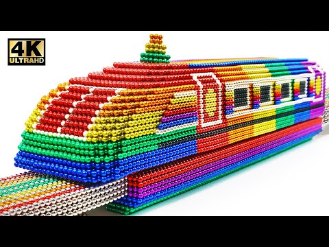 DIY - How To Make Magnetic Train From Magnetic Balls (Satisfying) | Magnet World Series