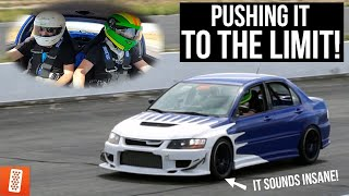FIRST BOOST PULLS in the EVO VIII Race Car! (Sounds AMAZING!)