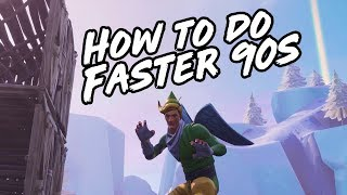 How to Build FAST 90s on PS4 + XBOX! 90s Building Tutorial / Guide for Console Fortnite!