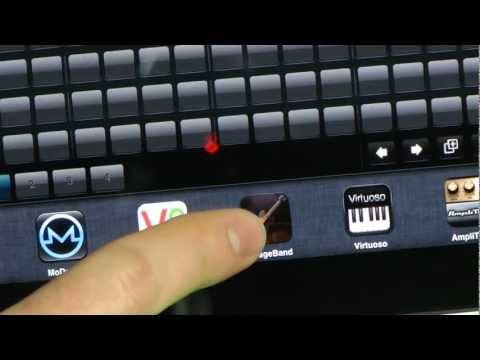 Sample Lab for iPad 1.5 demo w/  virtual MIDI sync