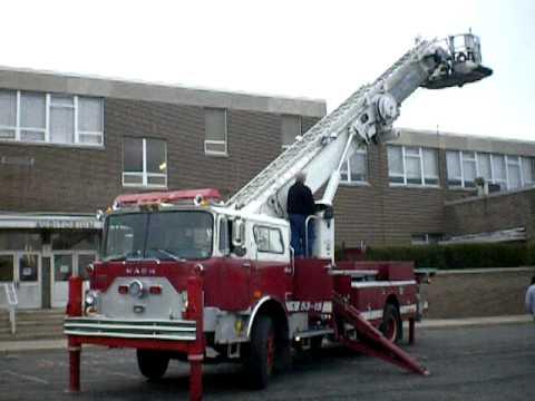 mack tower ladder youtube