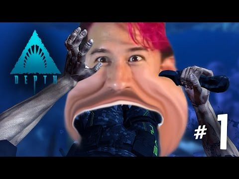 EATEN BY MARKIPLIER | Depth Ep. 1 w/Mark, Wade, and Ethan