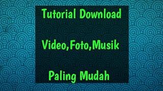 Gambar cover Cara Mendownload Video Foto Dan Musik Dari Instagram dan Youtube