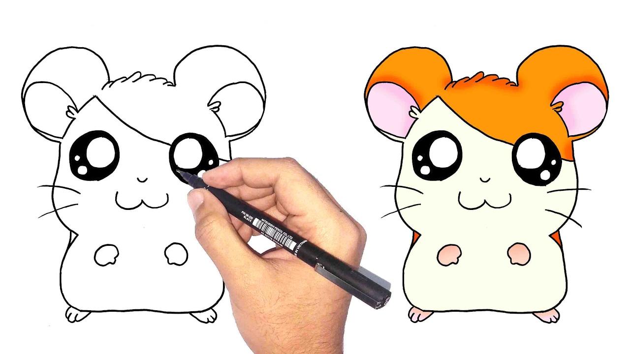 تعلم الرسم كيف ترسم همتارو خطوة بخطوة للمبتدئين Youtube