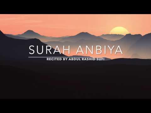 Awesome recitation Surah Anbiya - سورة الأنبياء | Abdul Rashid Sufi | English Translation