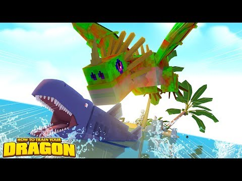 ZOMBIE DEADLY NADDER, SHARKS AND MONSTROUS NIGHTMARE?!  How To Train Your Dragon w TinyTurtle