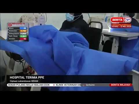 26 APR 2020 BERITA WILAYAH-HOSPITAL TERIMA PPE-CIPTAAN SUKARELAWAN IKRAM