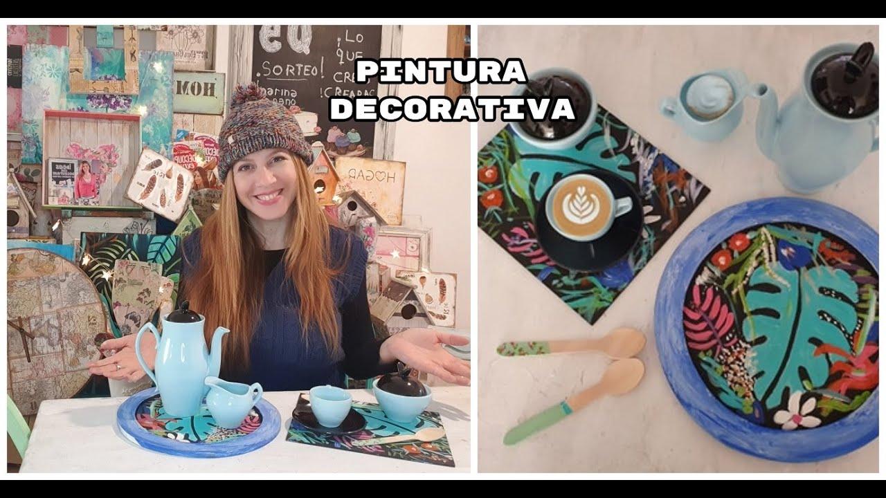 Como pintar un plato con pintura decorativa ♥ Marina Capano