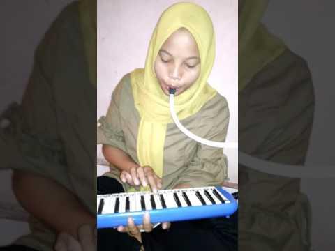 Belajar lagu lancang kuning dengan pianika