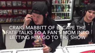 CRAIG MABBIT OF ESCAPE THE FATE TALKS A FAN