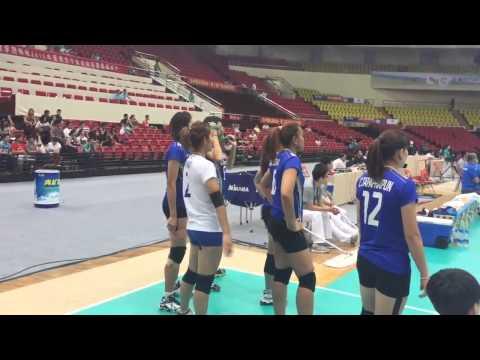 วอลเลย์บอลหญิงชิงแชมป์เอเชีย ลีลาเต้นเชียร์ของปลื้มจิตร์และปิยะนุช