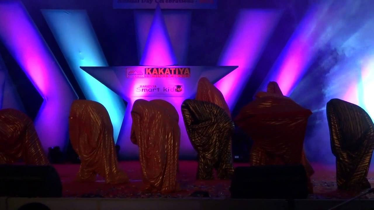 Sai karthik dancing colors theme at annual day youtube for Annual day stage decoration images