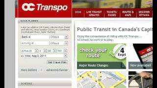 Welcome To OC Transpo 09 Travel Planner