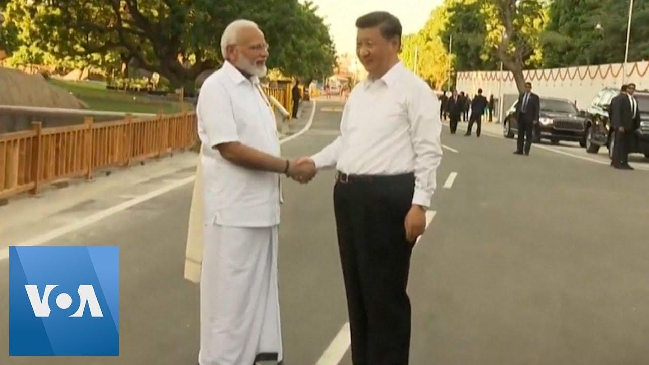 Xi Jinping and Narendra Modi Tour World Heritage Sites in India