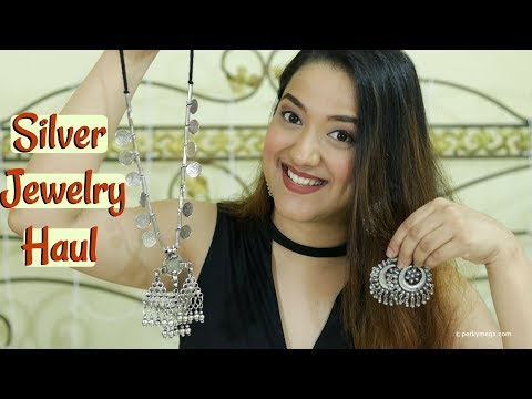 Online Silver Junk Jewellery Haul | Online Jewelry Shopping | Perkymegs
