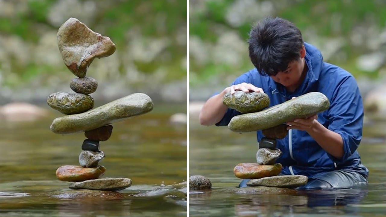 Rock Balancing The Ephemeral Art Youtube
