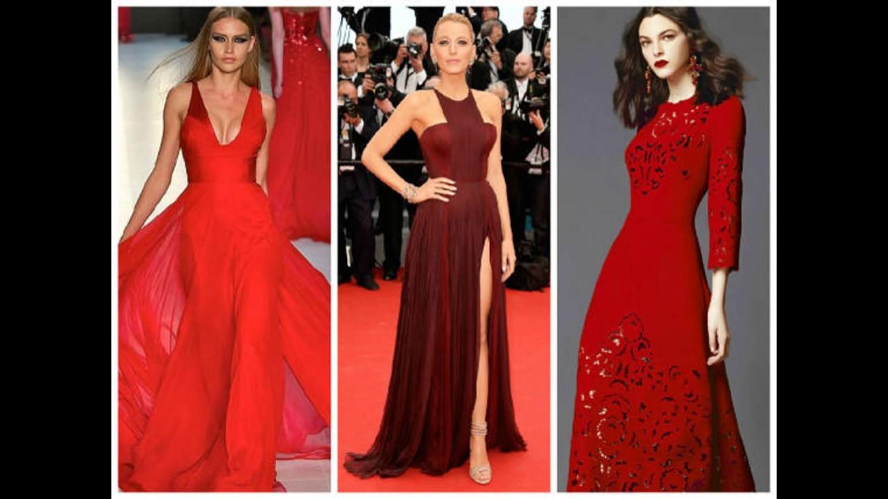 Vestido vermelho longo para festa