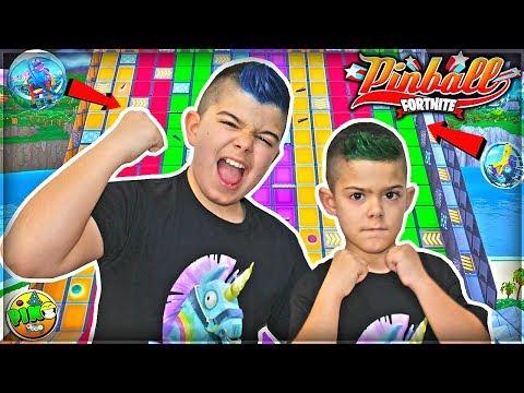 PINBALL GIGANTE CON BOLONCHOS EN FORTNITE!!!PINO vs ARES/ Modo Creativo