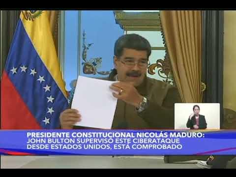 Presidente Nicolás Maduro en cadena nacional este 15 de marzo de 2019 sobre sabotaje eléctrico