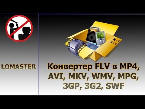 Конвертер FLV в MP4, AVI, MKV, WMV, MPG, 3GP, 3G2, SWF