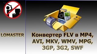 Конвертер FLV в MP4, AVI, MKV, WMV, MPG, 3GP, 3G2, SWF