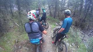 Baldy mountain bike descent Alberta
