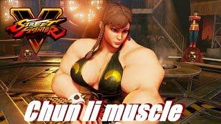 Street Fighter 5 mods Chun li muscle