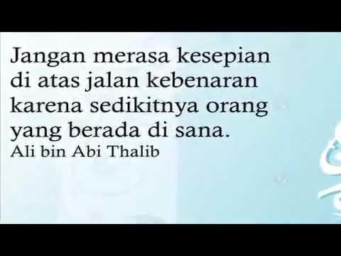Kata Kata Mutiara Ali Bin Abi Thalib Youtube