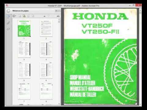 honda vt250f workshop manual manual de taller manuel datelier rh youtube com honda vt 250 service manual honda vt 250 workshop manual