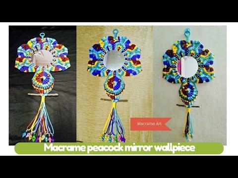 DIY macrame tutorial of Macrame peacock mirror wallpiece | Macrame Art