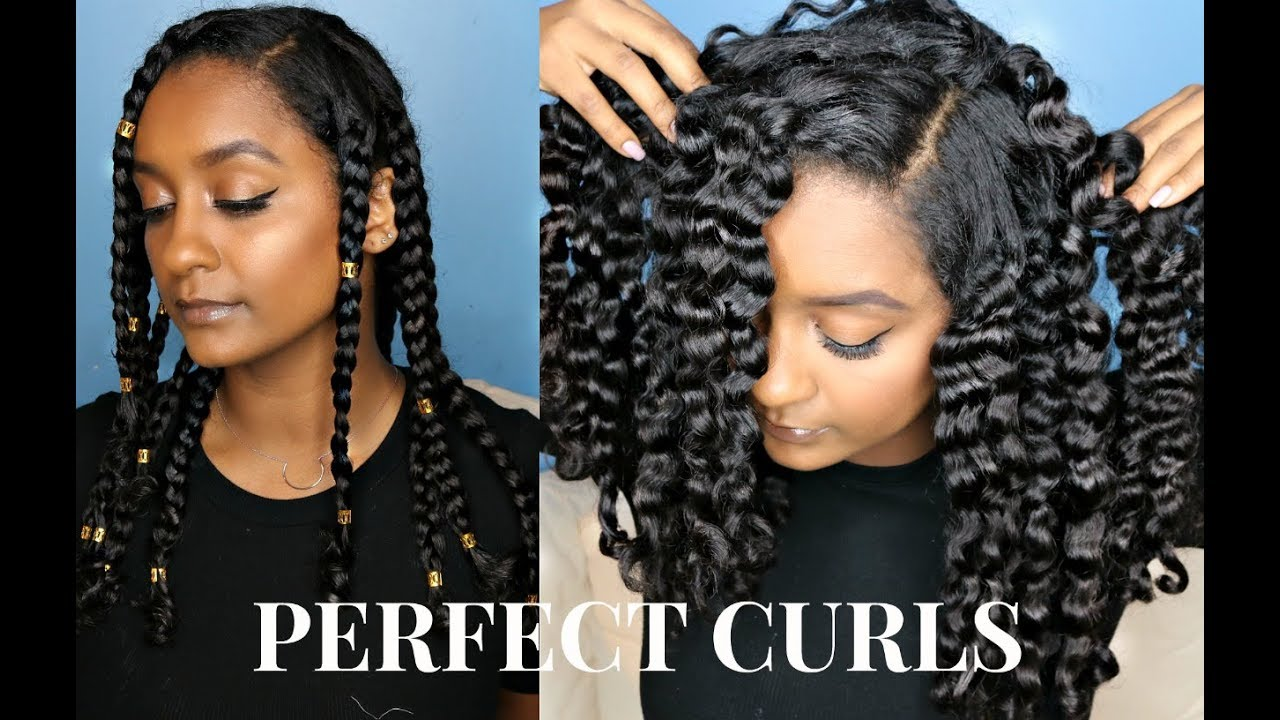 The Perfect Braid Out Tutorial Natural Hair Youtube