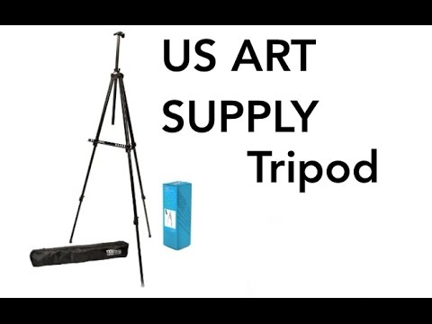 US Art Supply Big Sur 80 inch X-Large Aluminum Tripod Field and Display Easel