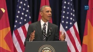 Obama Addresses Vietnamese People - Full Speech In Hanoi