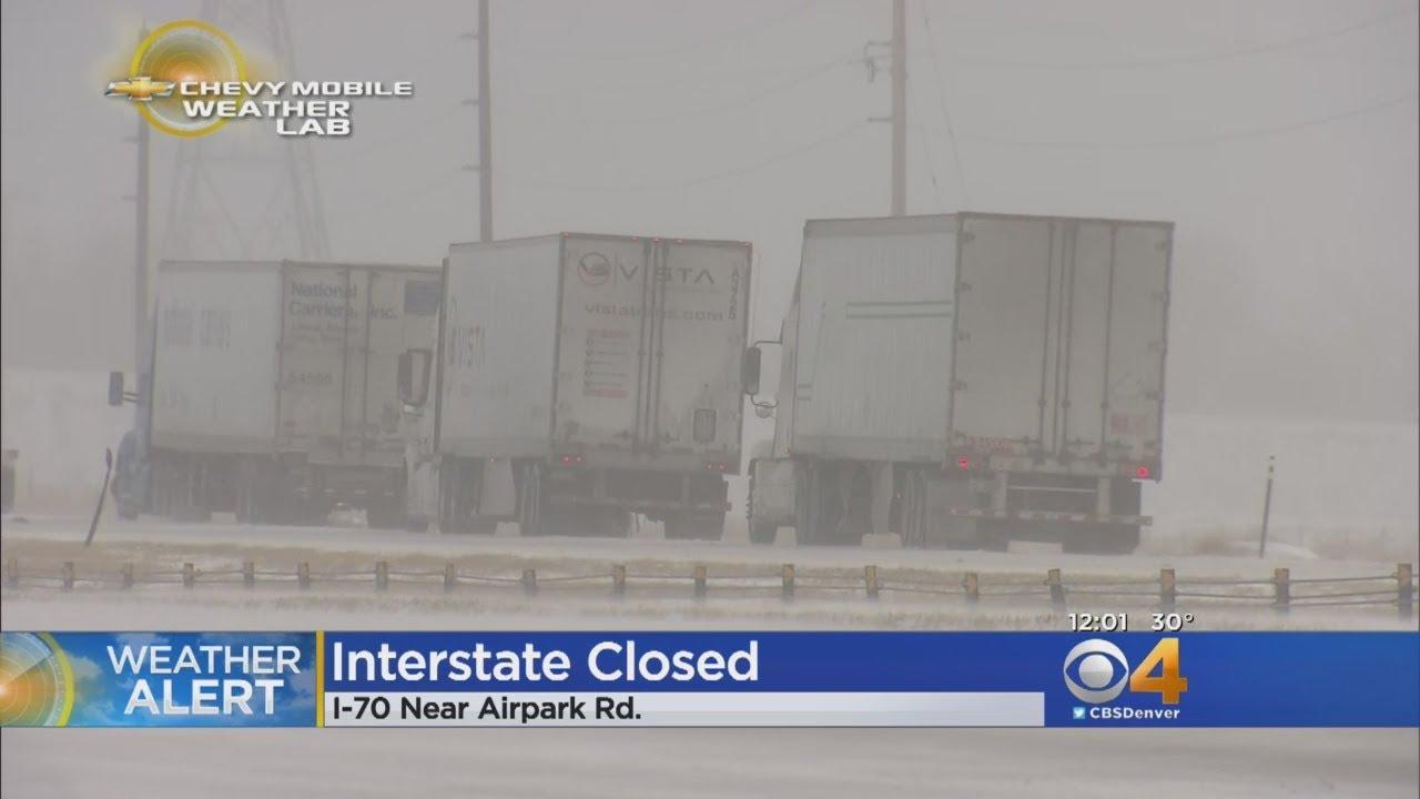 Denver-area schools closing, flights canceled ahead of Wednesday's blizzard in Colorado